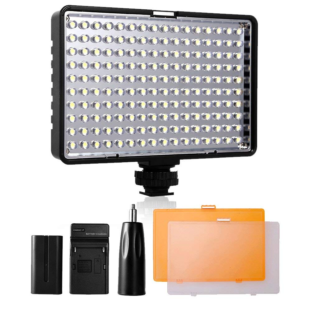 SAMTIAN 160 LED Light Camera TL-160S Dimmable Ultra High Power Camcorder Panel Digital luz de vídeo para Canon, Nikon, Pentax, Panasonic, Sony, Samsung y Olympus Cámara Digital SL