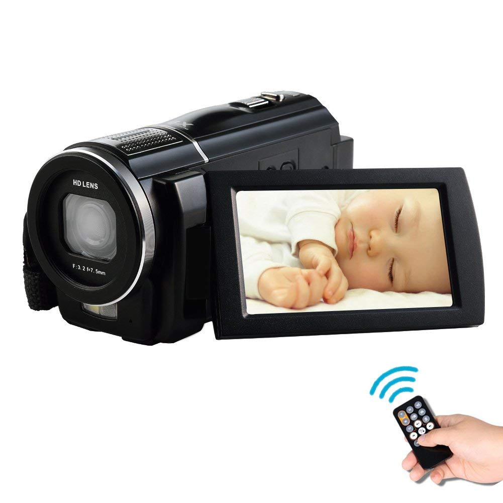 SEREE HDV-S5 Full HD 1080p 30fps Videocámara 24MP Resolución Modo Macro Soporte hasta 64G Tarjeta SD Batería externa 3 pulgadas de pantalla táctil HDMI TV hacia fuera Cámara de vídeo digital