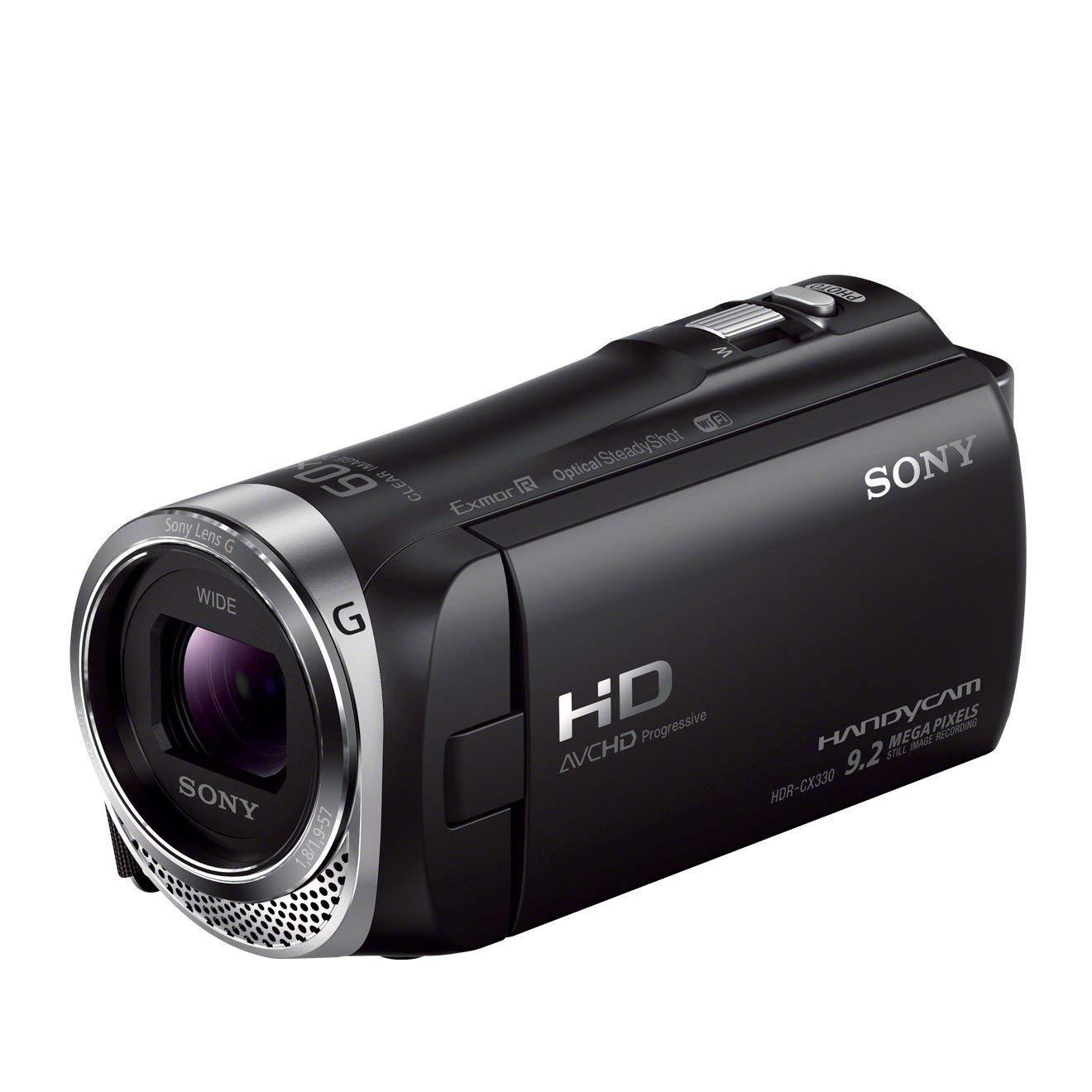 "Sony Handycam HDR-CX330E - Videocámara Full HD 1080p (2.3 Mp, pantalla de 2.7"", zoom óptico 30x, estabilizador, WiFi), negro"