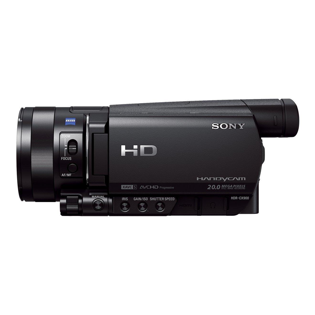 """Sony Handycam HDR-CX900E - Videocámara de 14.2 Mp (pantalla de 3.5"""", zoom óptico 12x, estabilizador óptico, vídeo Full HD, WiFi y NFC), Negro"""