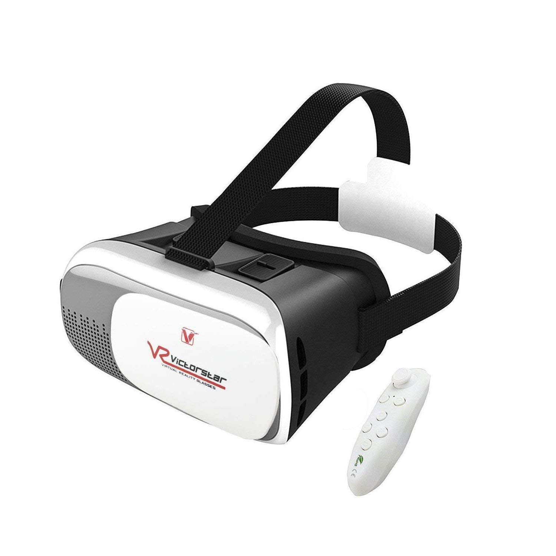 VICTORSTAR @ VR Caja II 3D Gafas + Remoto Controlador VR Realidad Virtual 3D Gafas de Vídeo 3D Juego Gafas El 4,0 a la DE 6.0 Pulgadas iOS Teléfonos Inteligentes Android Celulares