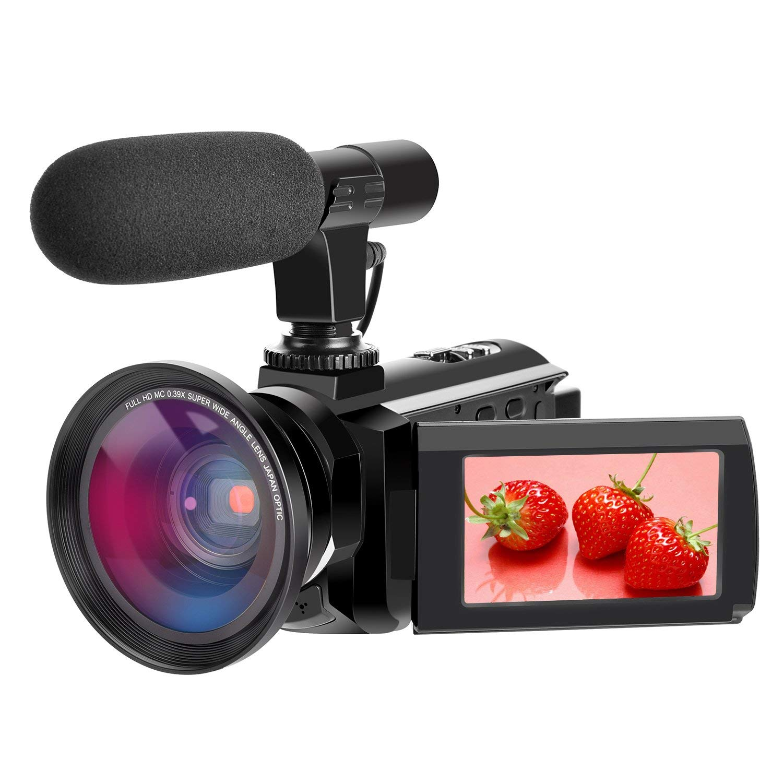 Videocámara 4K Videocámara con cámara Digital Full HD 48.0MP con micrófono Externo Videocámara WiFi con visión Nocturna