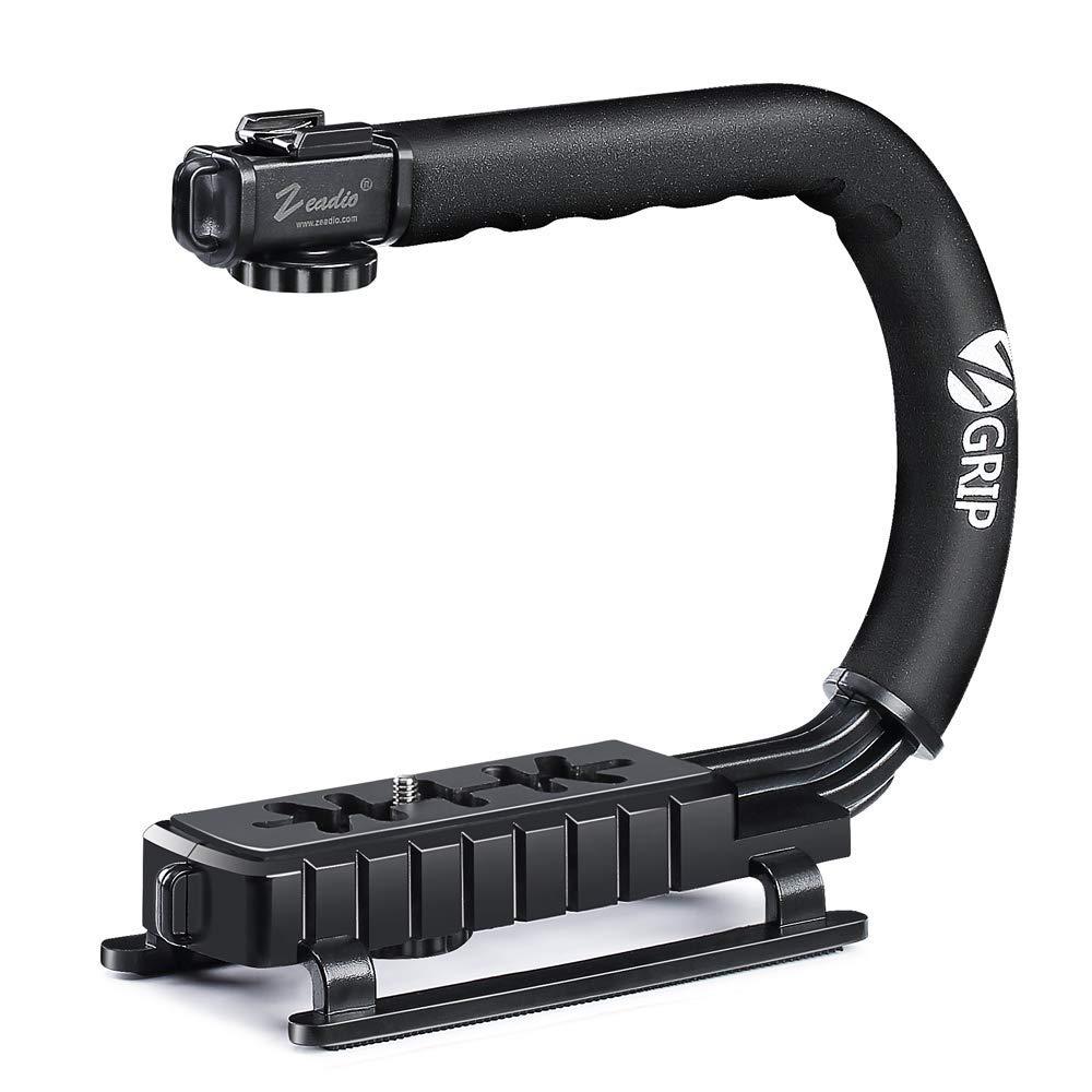 Zeadio Estabilizador portátil con el zócalo accesorio para Canon, Nikon, Pentax, SONY, Panasonic, Samsung y Olympus cámara videocámara