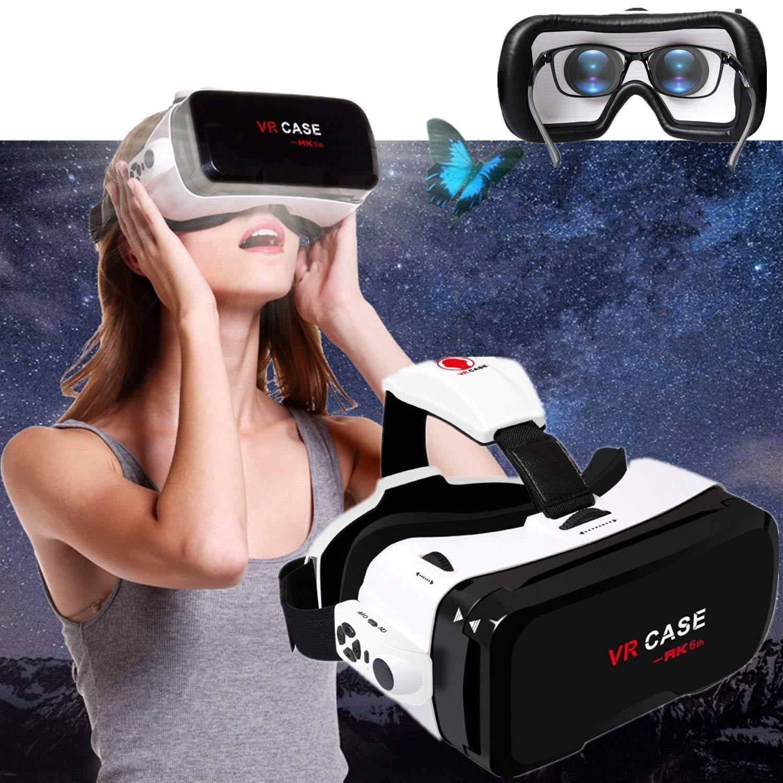 """3d VR gafas/móvil, bevifi 3d Visor de realidad virtual teléfono móvil 3d películas/juegos [Newest] + desmontable Mando a distancia para iPhone 7/6S Plus Samsung Galaxy S7Edge y otros 4.7""""6,0teléfonos móviles"""