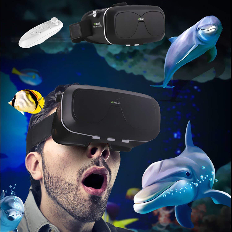 3d VR móvil/gafas, bevifi Realidad Virtual Auriculares con control remoto para 4.0–6.0pulgadas IOS/Android, para iPhone 7Plus 66S Plus Samsung Galaxy S7Edge S6Edge S5, LG, Sony y otros smartphones