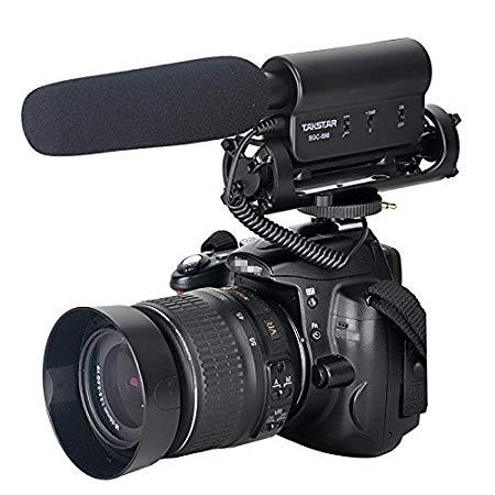 Amzdeal Micrófono cañón de condensador de vídeo profesional para cámaras digitales SLR y videocámaras,Micrófono para Nikon Canon Cámara DV Camcorder Nikon DSLR Cámara, Canon DSLR Cámara--Takstar SGC-598