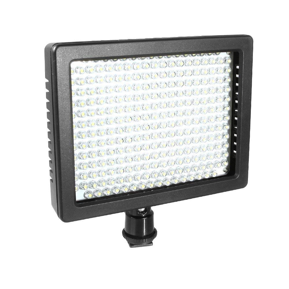 Andoer 260 LED Luces de vídeo lámpara del panel 18W 2100LM regulable para Canon Nikon Pentax DSLR cámara vídeo videocámara