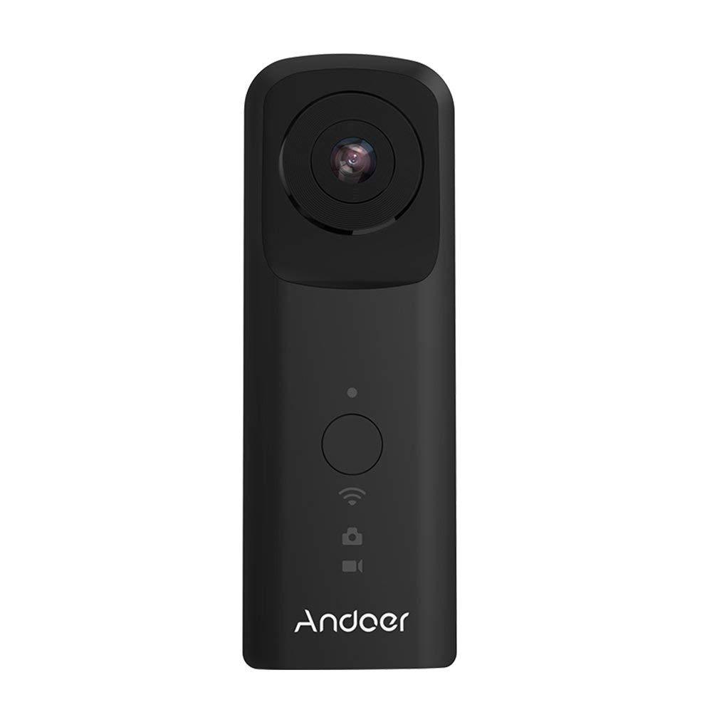 Andoer Cámara portátil VR a 360° 1920* 96030FPS Soporte Wifi doble 210° HD Wide Angle Fisheye Lente Panoramica Cam