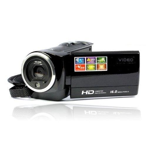 Andoer Videocámaras Digitales Mini Portátil LCD Pantalla HD 16MP 16X Zoom Digital 720P 30 FPS Anti-vibración Grabador de Vídeo Digital Cámara Videocámara DV DVR