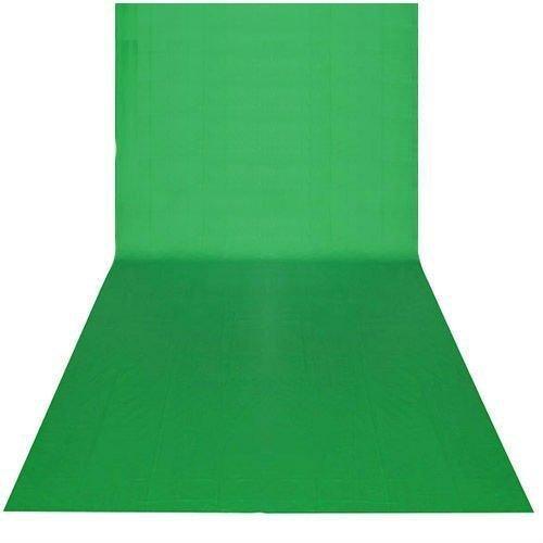 BPS - Telón de Fondo para Estudio Fotográfico 9 x 20 pies/3 x 6M, Color Verde, Tela sin Tejido, Telón de fondo pantalla de fondo para Fotografía, Vídeo y Televisión