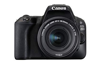 Canon EOS 200D - Cámara Digital réflex + Objetivo EF-S 18-55 f/4-5,6 IS STM - Negro