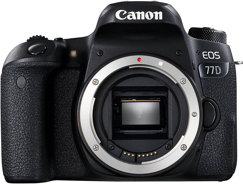 Canon EOS 77D - Cámara réflex DE 24.2 MP (vídeo Full HD, WiFi, Bluetooth) Color Negro