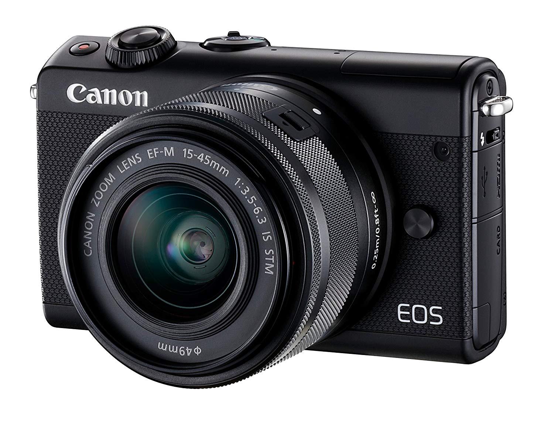 Canon EOS M100 - Cámara Evil compacta DE 24.2 MP (LCD, FHD, Bluetooth, WiFi/NFC, Dual Pixel AF, DIGIC 7) Negro - Kit Cuerpo con Objetivo EF-M 15-45 mm