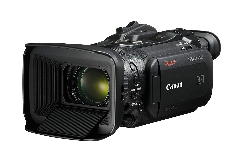 Canon LEGRIA GX10 - Videocámara (4K a 50 fps, Wide DR, 15x Zoom Optico, WiFi, Enfoque AF Dual Pixel CMOS preciso) Color Negro