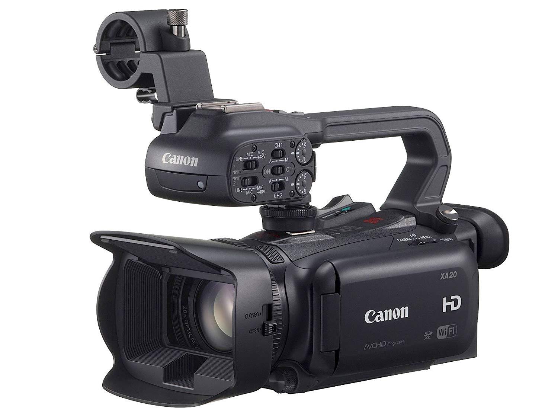 Canon XA20 - Videocámara clásica, 3 MP, zoom óptico 20x, negra