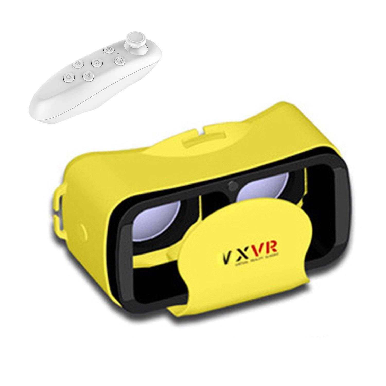 "Compacto 3d VR móvil/gafas, bevifi 3d VR Realidad Virtual Auriculares con control remoto para 4.0–6.0""iOS iPhone Android 7/7Plus/6/6S Plus Samsung Galaxy S7Edge S7/S6/J7/A5/A32016Sony LG Huawei etc."