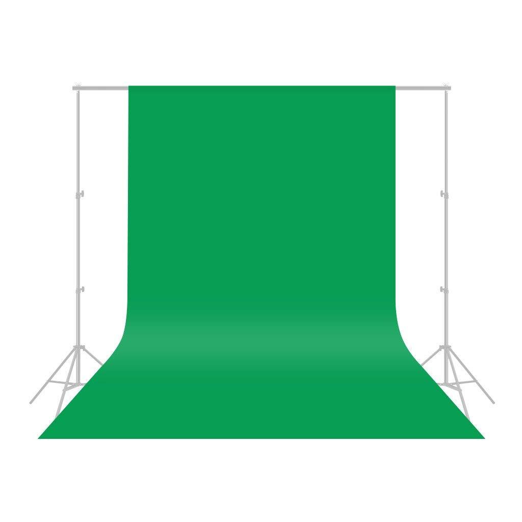CRAPHY Pro Fondo Fotográfico 1.8 * 3M, Plegable Telón de Fondo de 100% Pura Muselina para Estudio Fotográfico para Fotografía, Vídeo y Televisión, Verde, Incluye únicamente el Fondo