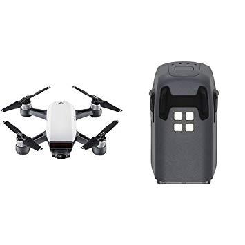 DJI Spark - Dron cuadricóptero (full hd, 12 mpx, 50 km/h, 16 minutos), Blanco
