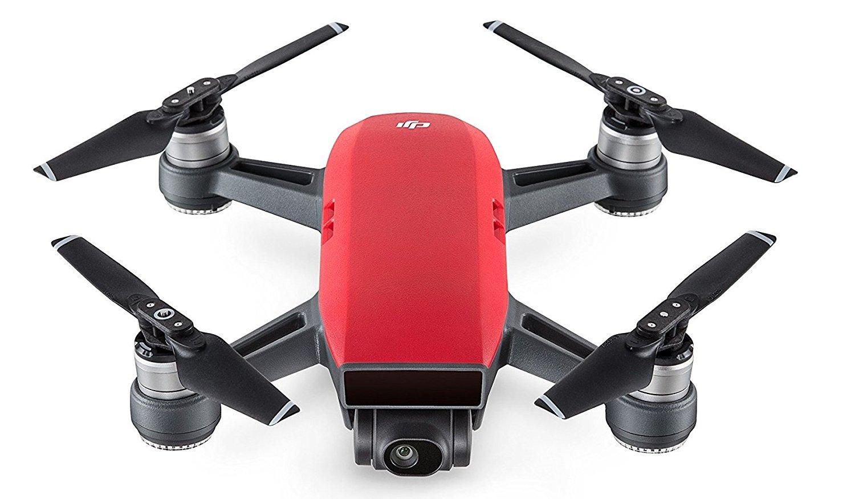 DJI - Spark (Version UE) - Magma Red   Quadcopter con cámara   Mini Drone   Oferta de vuelo de 16 minutos   Cámara de alto rendimiento para fotos y videos   Control simple   Transmisión de video HD Wi-Fi