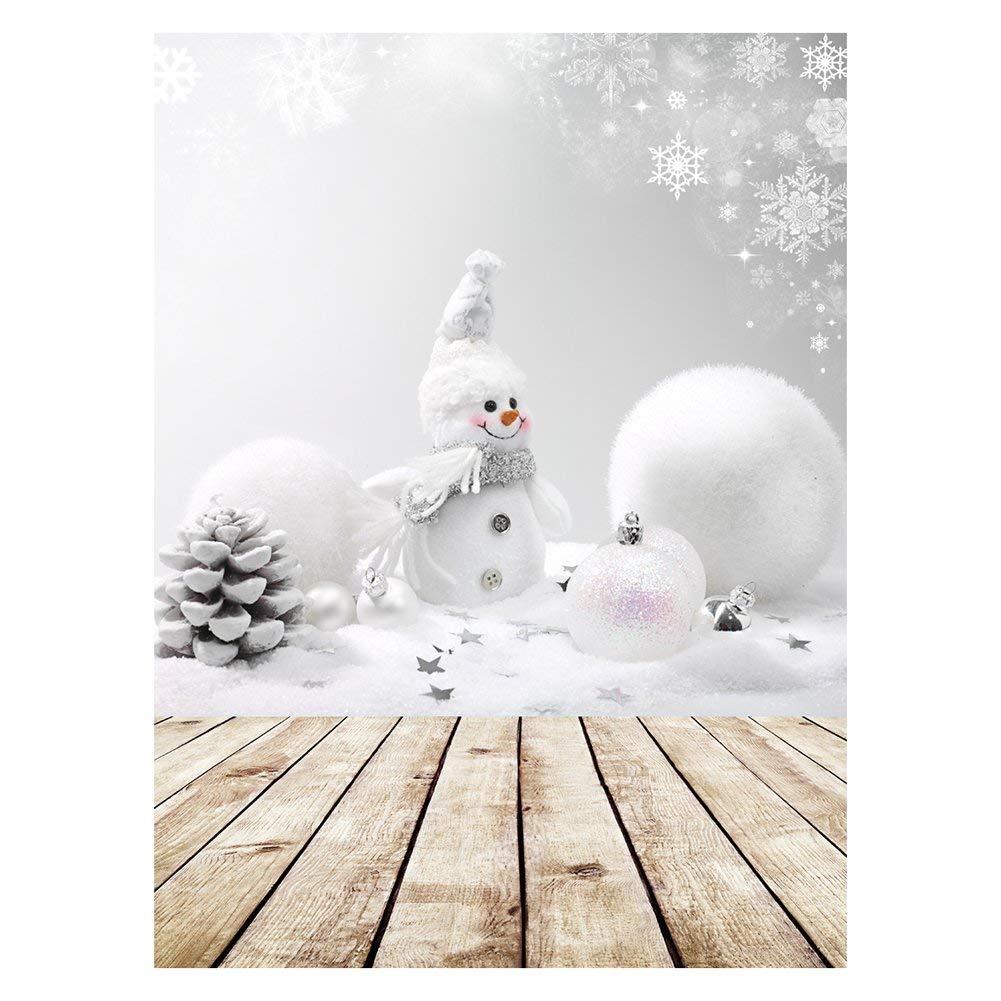 Fondo Fotografía de Telón Domybest Impreso Muñeco de nieve de Navidad para Niños Bebé Estudio de Foto, 0.9 x 1.5m (# 6)