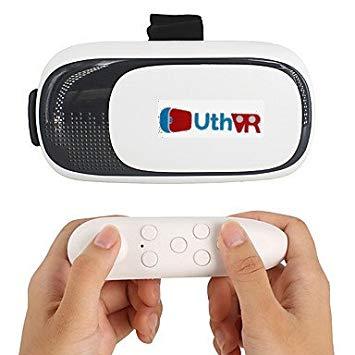 Gafas 3D de realidad virtual con auriculares por UthVR para teléfono inteligente, tamaños de 3,5 a 6 pulgadas