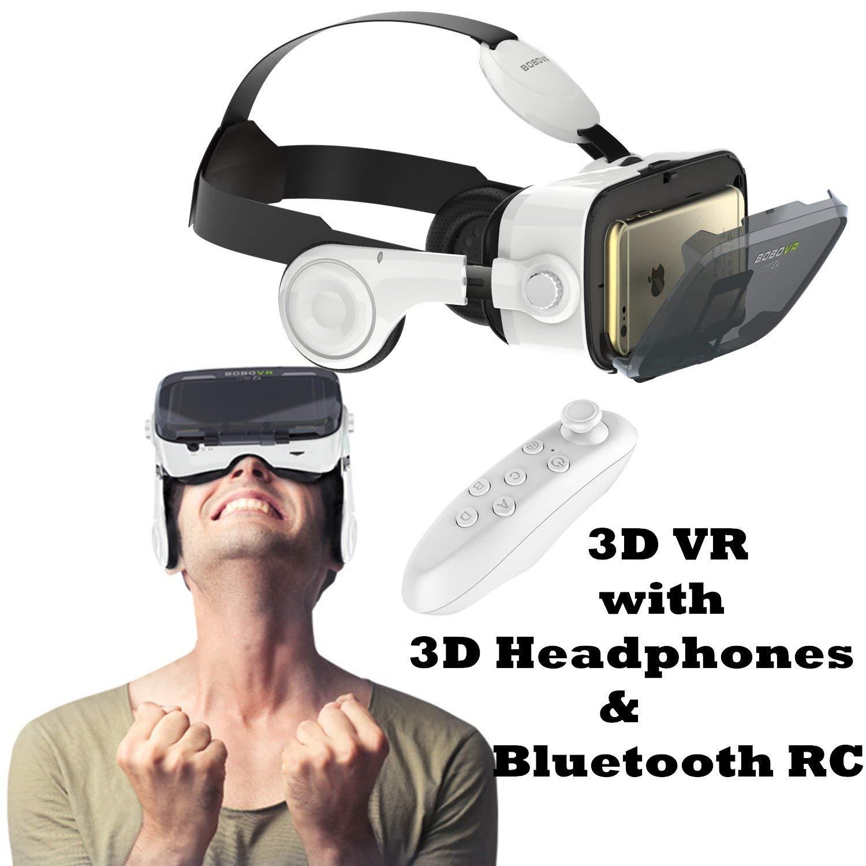 """Gafas 3d VR móvil, bevifi con 3d de realidad virtual auriculares auriculares y mando a distancia para Android Samsung Galaxy S7Edge/S7/S6/A5/A32016, iOS iPhone 7/7Plus/6/6S Plus y otros 4.7–6.2""""teléfonos móviles"""