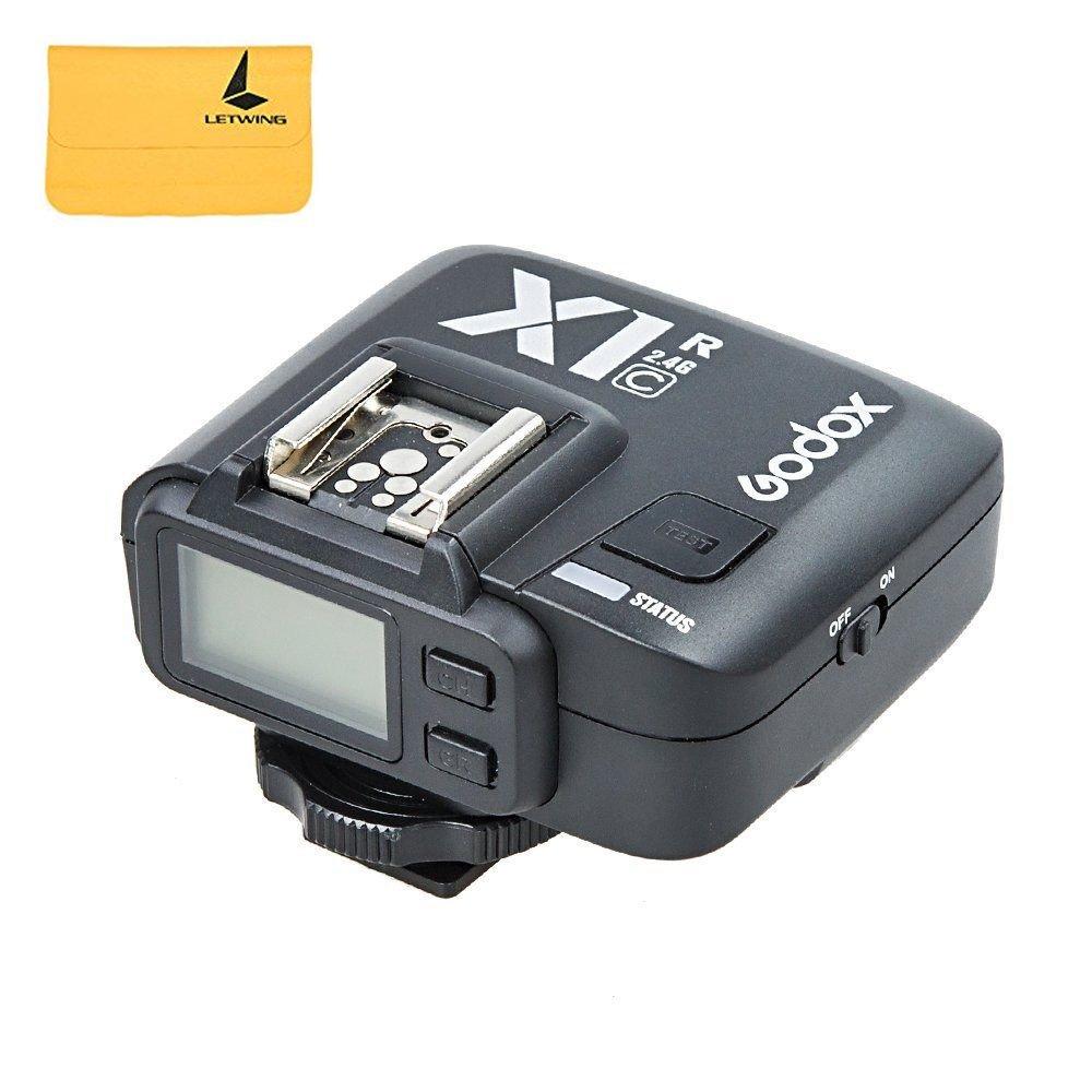 Godox X1R-C | Receptor de cañón | Receptor Flash inalámbrico | Cámaras Canon DSLR | EOS 1Dx Mark II, 1Dx, 5Ds / 5Dsr, 5DIV, 5DMark III, 5d Mark II, 7D, 6D, 80D, 70D, 60D, 50D, 500D, 450D, 400D Digital, 350D Digital, 100D, 1200D, 1000D, 1100D, M5, M3 | Transmisor Flash LCD | Godox 2.4G Triggering System