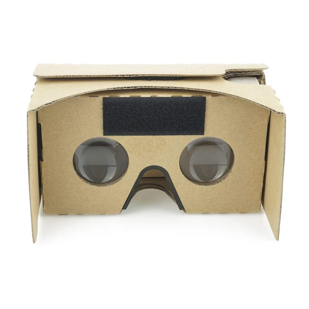 Google cartón V23d VR Realidad Virtual Cartón Caja VR Headset alargado con cinta para la cabeza nariz Pad VR Gafas de cartón para la mayoría de Smartphones