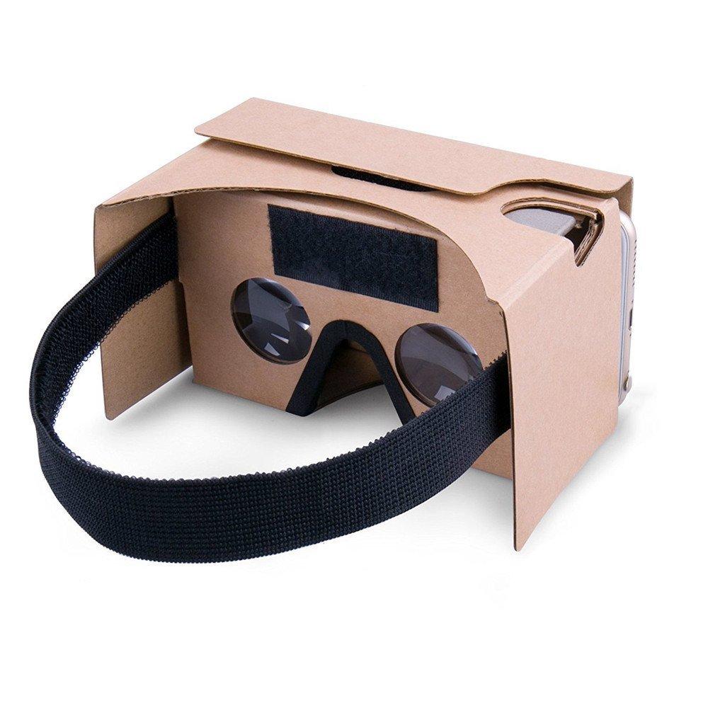 Google gafas de realidad virtual 3D Headset de carton, carton 3-6inch DIY pantalla compatible con Apple y Android Smartphone