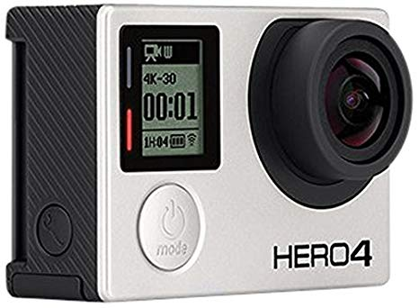 GoPro HERO4 Black Edition Motorsport - Videocámara deportiva (12 Mp, Wi-Fi, Bluetooth, sumergible hasta 40 m), color gris/negro