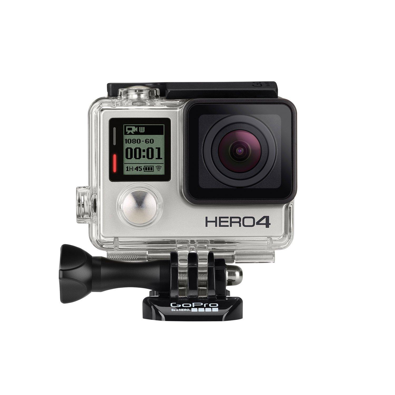 GoPro HERO4 Silver Edition Adventure - Videocámara deportiva (12 Mp, Wi-Fi, Bluetooth, sumergible hasta 40 m), (versión alemana)