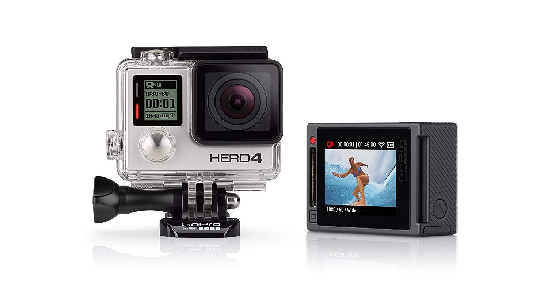 GoPro HERO4 Silver Edition Adventure - Videocámara deportiva (12 Mp, Wi-Fi, Bluetooth, sumergible hasta 40 m), (versión italiana)