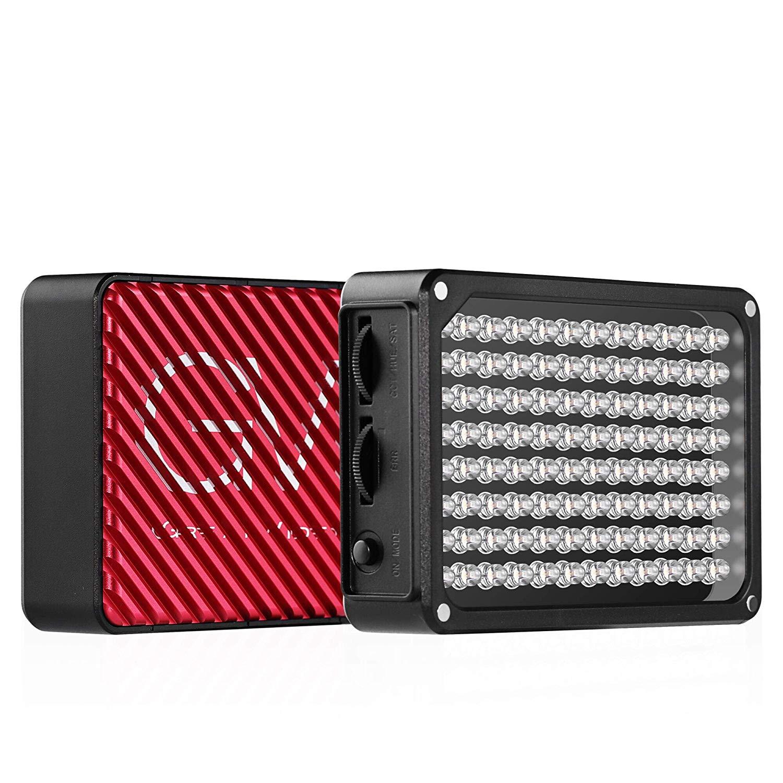 GVM TLCI / CRI 97+ Filmación de video Bolsillo en la cámara Luz Bi-color Temperatura 3200K-5600K 96 Teléfono de estudio LED Luz de fotografía al aire libre (Incluye adaptador de corriente y batería de litio incorporada)