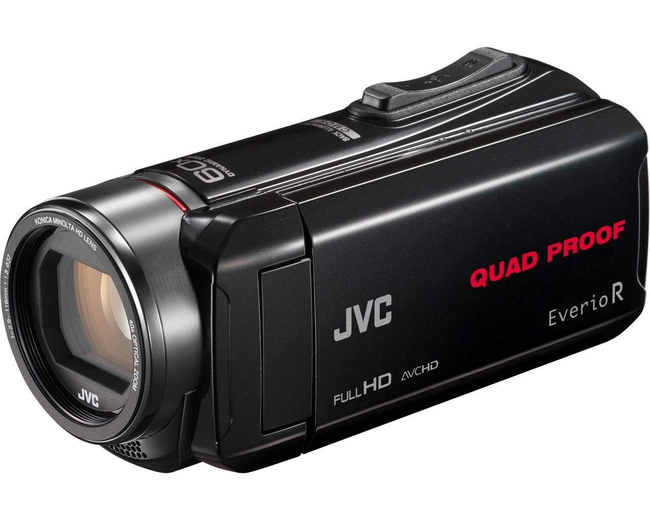 """JVC GZ-R435 - Videocámara de Memoria (Pantalla articulada 3"""", vídeo Full HD, hidrófugo, SDXC Compatible, Tarjeta de Memoria SD, Memoria Flash Interna 4 GB) Negro"""