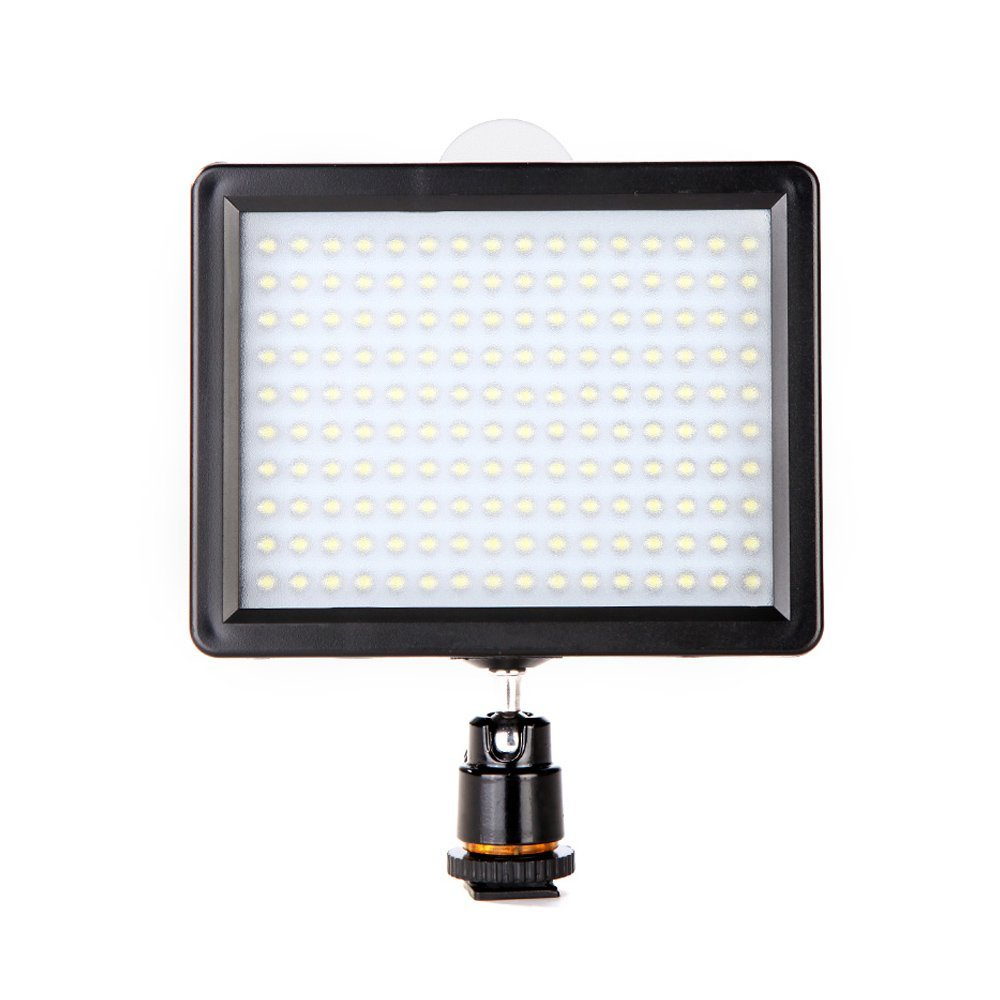 LED Video Light Andoer Panel de luz LED 160PCS 10.5W 1280LM 3200K-5600KDimmable for Canon Nikon Pentax DSLR Camera Video Camcorder