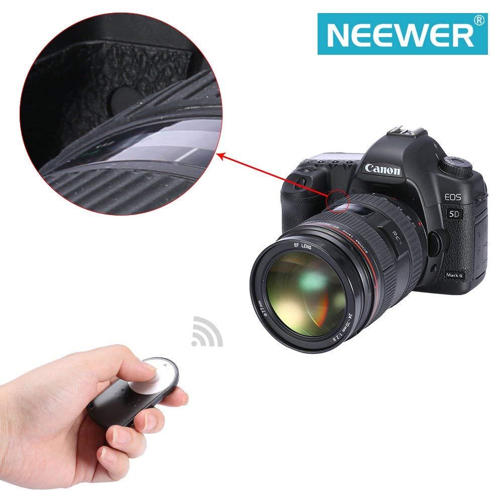 Neewer, Control remoto inalámbrico de disparador, infrarrojo, para Canon EOS 60D 70D 7D Rebel T5i, T4i, T3i, T2i, T1i, XSi, Xti, XT, SL1 / 700D 650D 600D 550D 500D 450D 400D 350D 100D