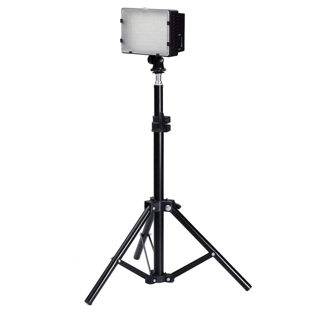 """Neewer® Fotografía 126 LED Juego de iluminación de estudio, incluye (1)CN-126 de alta potencia LED Luz ¬/ lámpara de vídeo para Videocámara Cámaras digitales DSLR (1)32""""/80cm de altura mini soporte de luz de fotografía de estudio Light Stand"""
