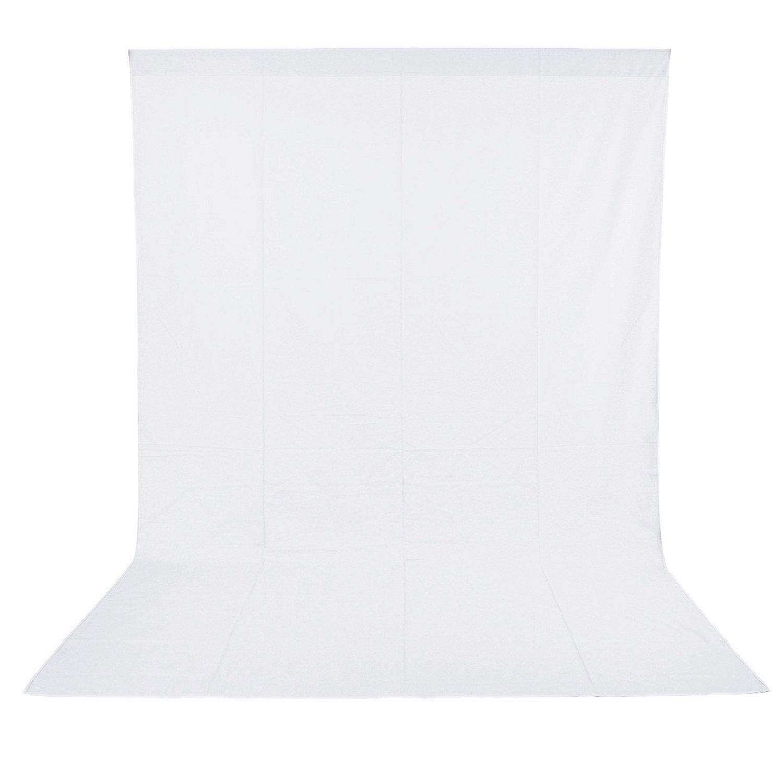 Neewer® Pro 10 x 20 pies / 3 x 6M Plegable Telón de fondo de 100% Pura Muselina para Estudio fotográfico Fondo fotográfico para Fotografía, Vídeo y Televisión (Blanco)