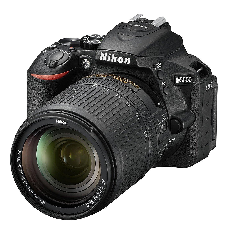 "Nikon D5600 - Cámara réflex DE 24.2 MP (Pantalla táctil de 3"", Full HD) Negro - Kit con Objetivo AF-S DX 18-140 mm VR, versión Europea"