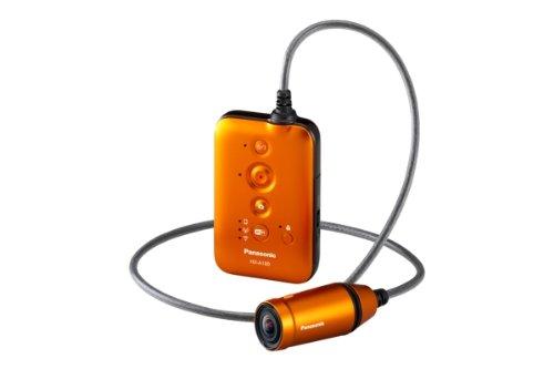 Panasonic - Videocámara de 3.32 Mp (estabilizador, ranura para tarjeta de memoria), naranja