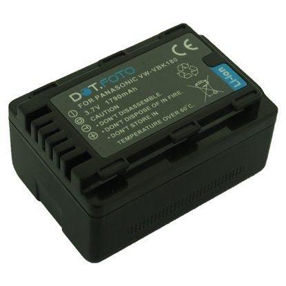 Panasonic VW-VBK180, VW-K-VBK180E PREMIUM Dot.Foto Batería de Reemplazo - 3.7V/1790mAh - Garantía de 2 años [Vea compatibilidad en la descripción]