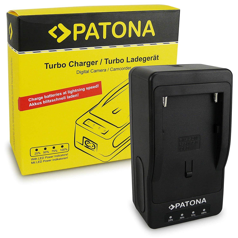 PATONA Turbo Cargador de Batería NP-F970 NP-F960 NP-F550 para Sony Camaras, Yongnuo Neewer luz de Video o Monitor