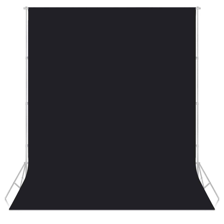 Tela de telón de Fondo no Tejida para Studio Photo 3x1.6m/10ftx5.25ft Color Negro para Fondo de fotografía Densidad de Fondo