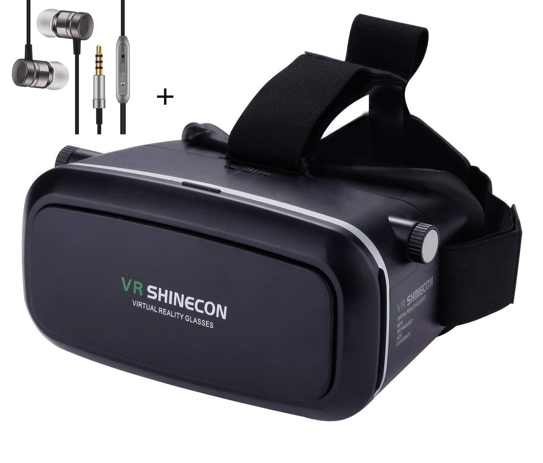 VR Headset 3D VR Glasses, Ownmax 3D VR Box Gafas de Realidad Virtual Visualización inmersiva con Lente y Correa Ajustables para películas en 3D Video Juegos Teatro Privado con Auriculares Premium