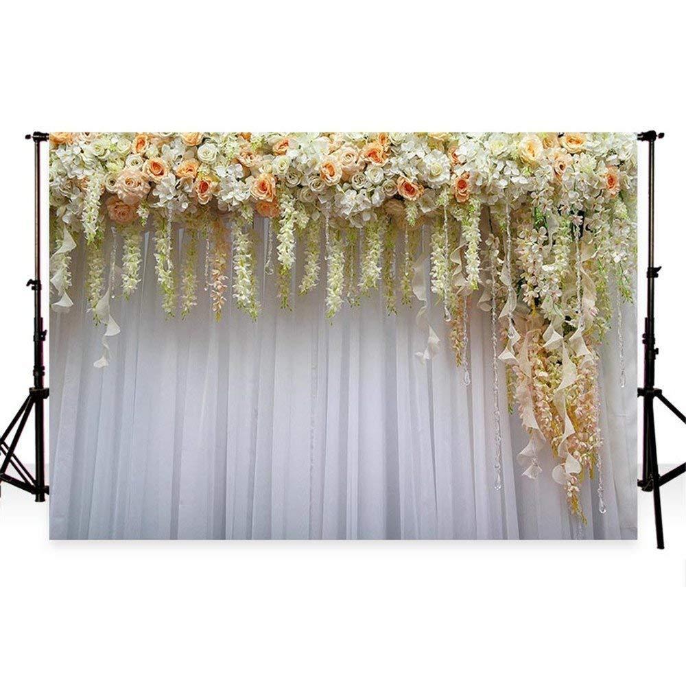 WaW 7x5pies fondo fotografia fondos fotográficos cortinas fondo boda fondo para fotos colores estudio fotografico microfibra (2.2x1.5m)