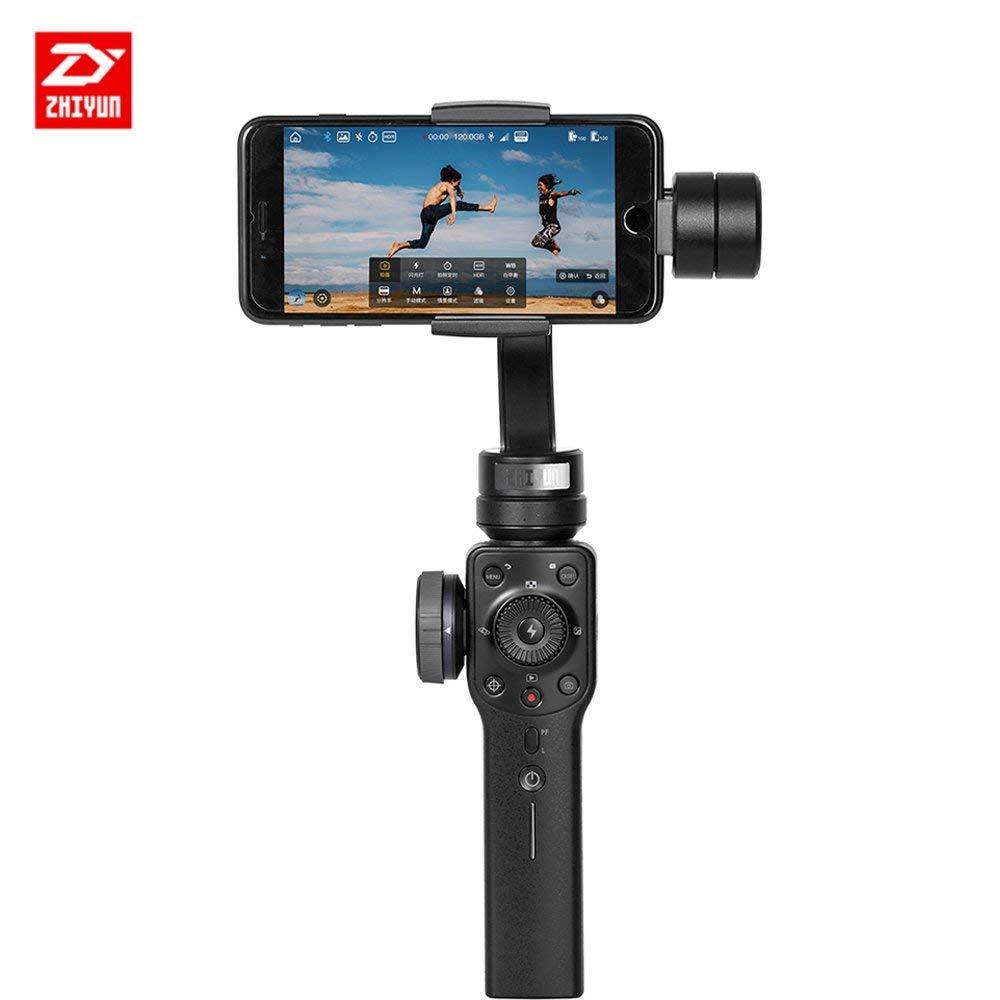 Zhiyun Smooth 4 3 Axis Portable Stabilizer compatible con SmartPhone IPhone, Samsung. Huawei .GoPro Hero 6/5/4/3, soporte máximo 200 g, 6 pulgadas