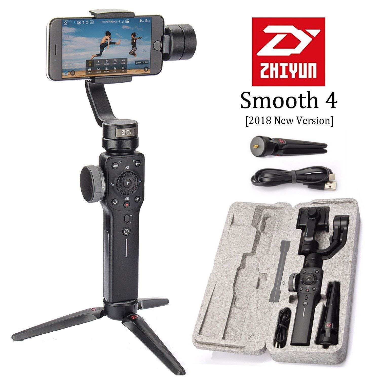 Zhiyun Smooth-Q 3-axis 3-ejes gimbal de mano,estabilizador para celulares como IPhone 7 Plus 6 Plus Samsung Galaxy S7 S6 S5 control inalámbrico fotografía Vertical y Panorámica (Black) …