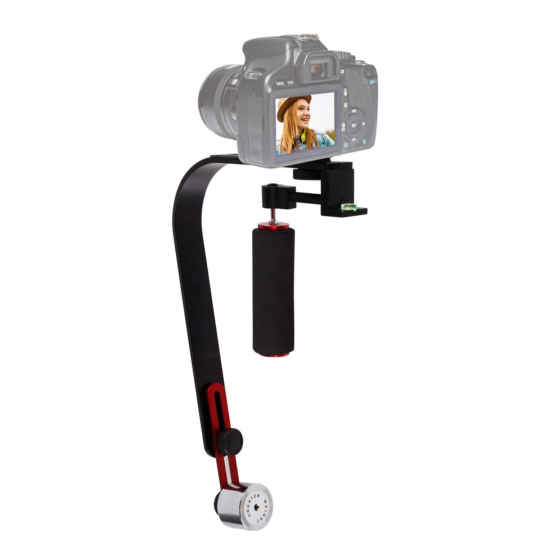 ASHANKS Video Steadycam estabilizador para cámara Digital compacta Canon Nikon Sony Gopro héroe Pentax videocámara DV