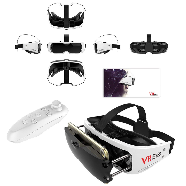 """Auriculares 3D VR, Bevifi Compacto Virtual Reality Gafas Visor de Auriculares + Mando a distancia para iOS iPhone 7/7 Plus/6/6S Plus, Android Samsung Galaxy S7 Edge S7/S6/S5/J7/A5/A3 2016 y otros teléfonos móviles de 3,5 – 6,0 """""""