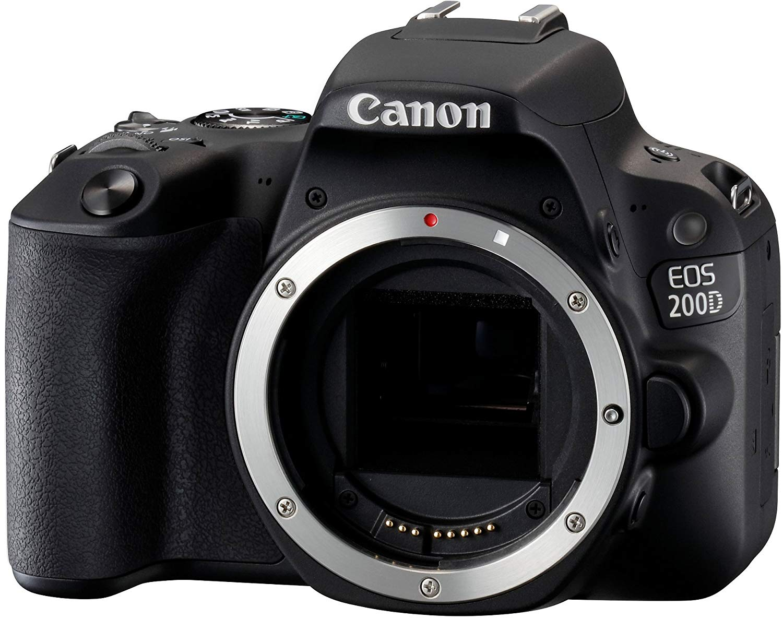 Canon EOS 200D - Cámara Digital Réflex de 24.2 MP (Pantalla táctil de 3.0'', WiFi, Bluetooth, Dual Pixel CMOS AF, Full HD) - Cuerpo